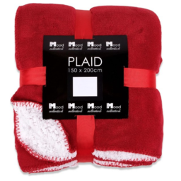 In The Mood Collection Fleece Plaid / Deken Akropolis Rood