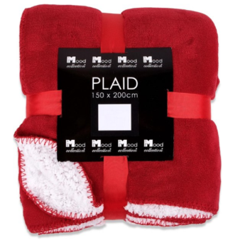 In The Mood Collection In The Mood Fleece Plaid  /Deken Akropolis Rood