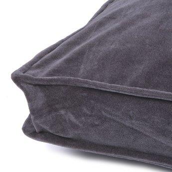 Lex & Max Boxbed Royal Velvet Grey, hondenkussen