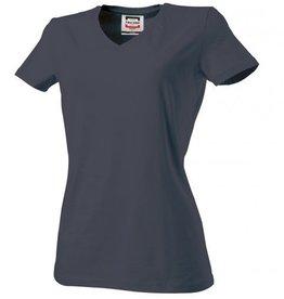 Tricorp online kopen bij J T H Tricorp dames T-shirt V- hals Slimfit TVT-190-101008 dark grey