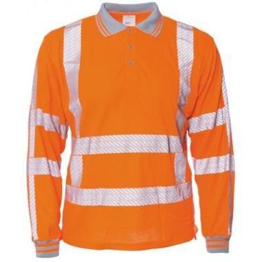 M-Wear online kopen bij JTH M-Wear 6220 Poloshirt lange mouw RWS oranje