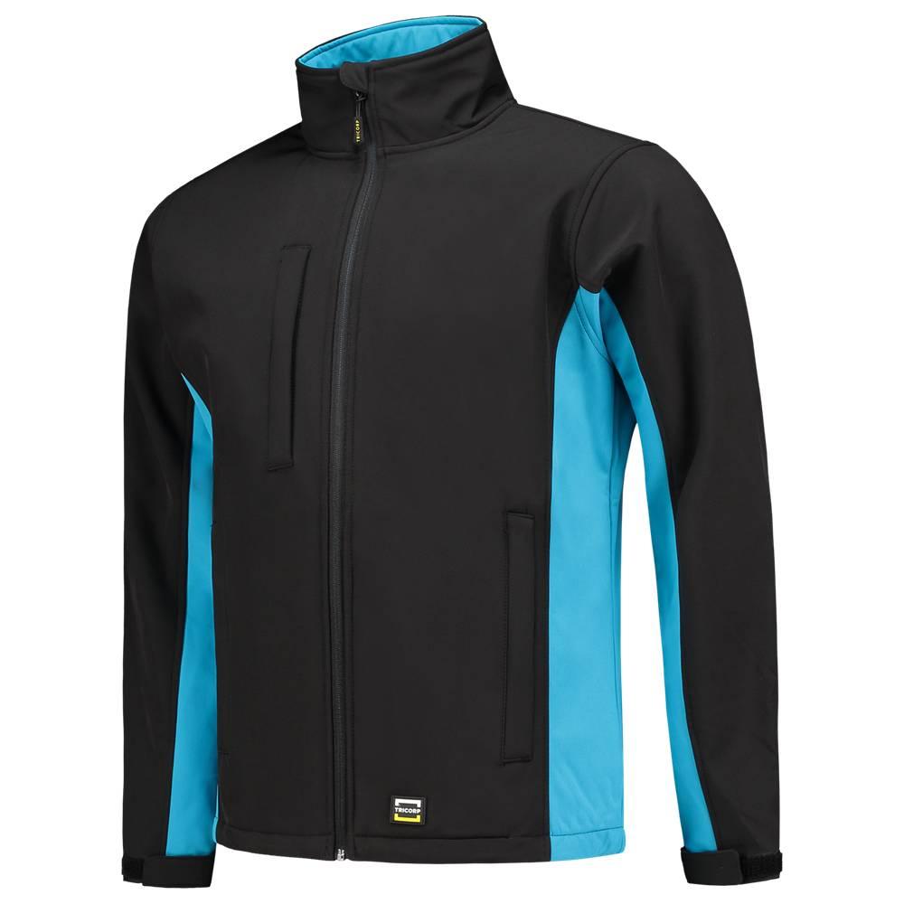 Tricorp online kopen bij JTH Tricorp soft shell jack TJ2000-40202 bicolor  black turquoise