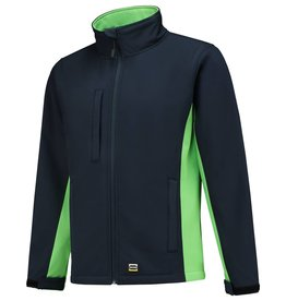 Tricorp online kopen bij JTH Tricorp soft shell jack TJ2000-402002 bicolor navy lime