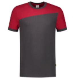 Tricorp online kopen bij JTH Tricorp T-shirt Naden 102006 Darkgrey Red
