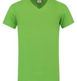 Tricorp online kopen bij JTH T-shirt V- hals Slimfit TFV-160-101005 Lime