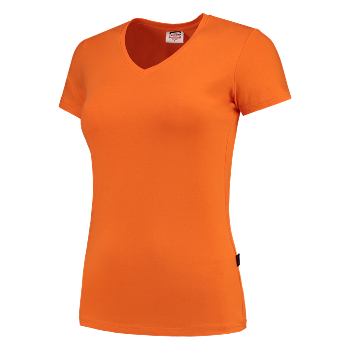 Tricorp online kopen bij J T H Tricorp dames T-shirt V- hals Slimfit TVT-190-101008 Orange