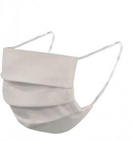 Mondkap online kopen bij JTH Herbruikbare, uitwasbare mondmaskers, 20 keer wasbaar op 90° C, strijken op 110°, elastiche oorbanden, 2-laags 100 % katoen 140 gr./m2,wit