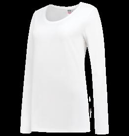 T-shirt Wit Dames Getailleerd