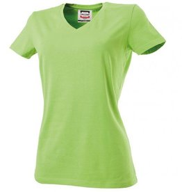 Tricorp online kopen bij J T H Tricorp dames T-shirt V- hals Slimfit TVT-190-101008 lime