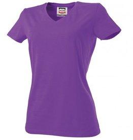 Tricorp online kopen bij J T H Tricorp dames T-shirt V- hals Slimfit TVT-190-101008 purple