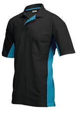 Tricorp online kopen bij JTH Tricorp poloshirt BI-Color TP-2000-202002 Black-Turquoise