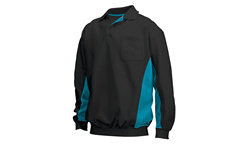 Tricorp online kopen bij JTH Polosweater Bi-Color TS-2000-302001 Black-Turqupoise