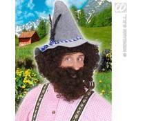 Wilde Beierse pruik met baard