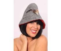 Goedkope beierse hoedjes grijs en rood