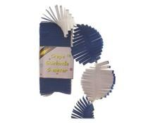 Slingers wit-blauw 5 meter