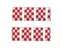 Feestvlaggen lijntjes rood met wit