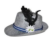 Bayern hoedje voor heren met veer en bloem