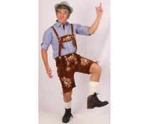 Beierse kleding: Korte lederhose in cognackleur