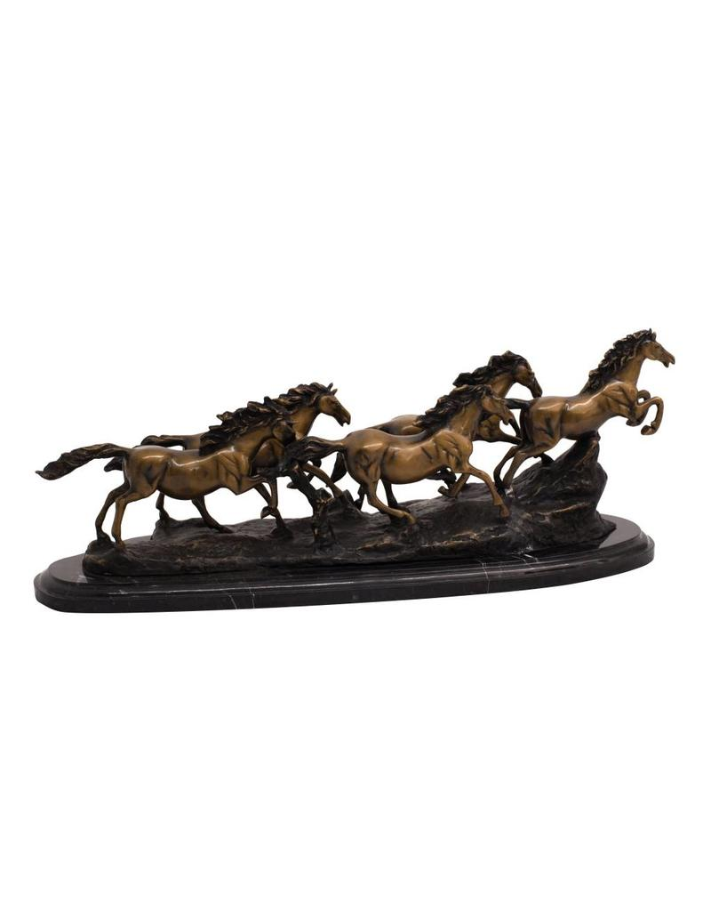 Philip – Pferde-Arrangement auf Marmorsockel