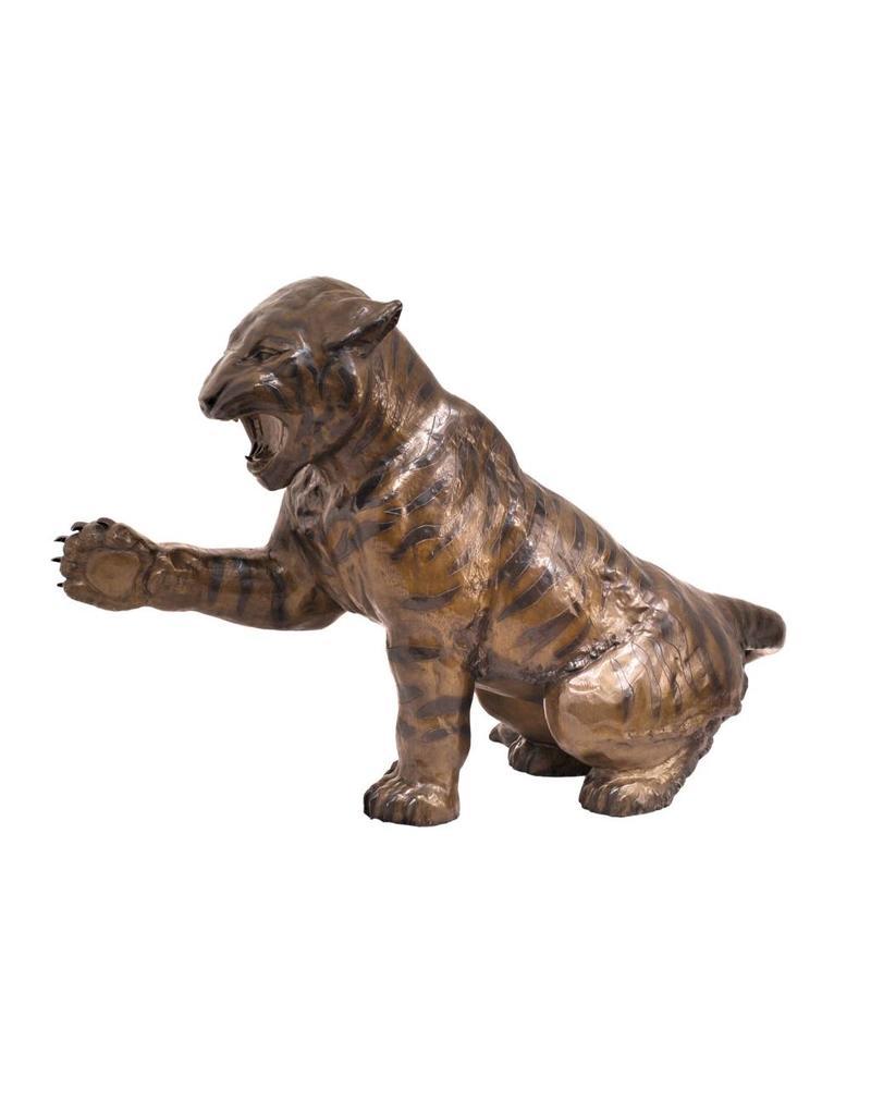 Andres – Sitzender Tiger Bronzefigur