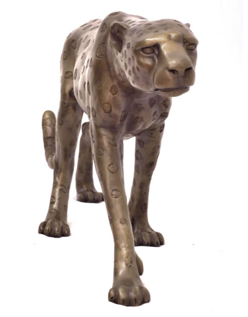 Grande Aristea – Große Bronzefigur Gepard