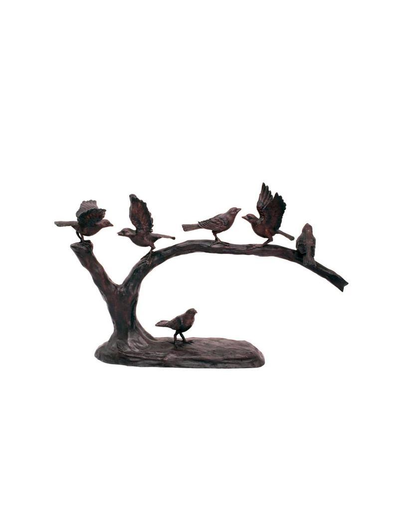 Zoey – Bronzefigur Vögel auf Ast