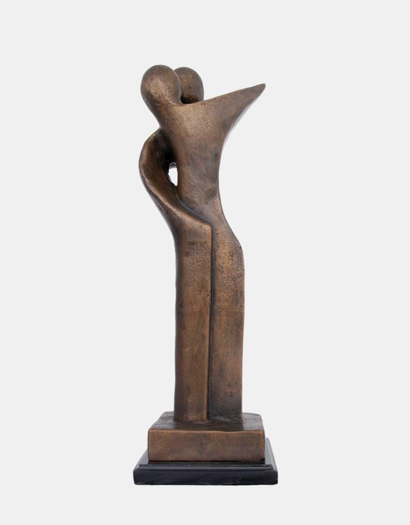 Modern Duett – Abstraktes Paar Skulptur