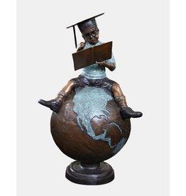 Summa cum laude – Große Bronzefigur