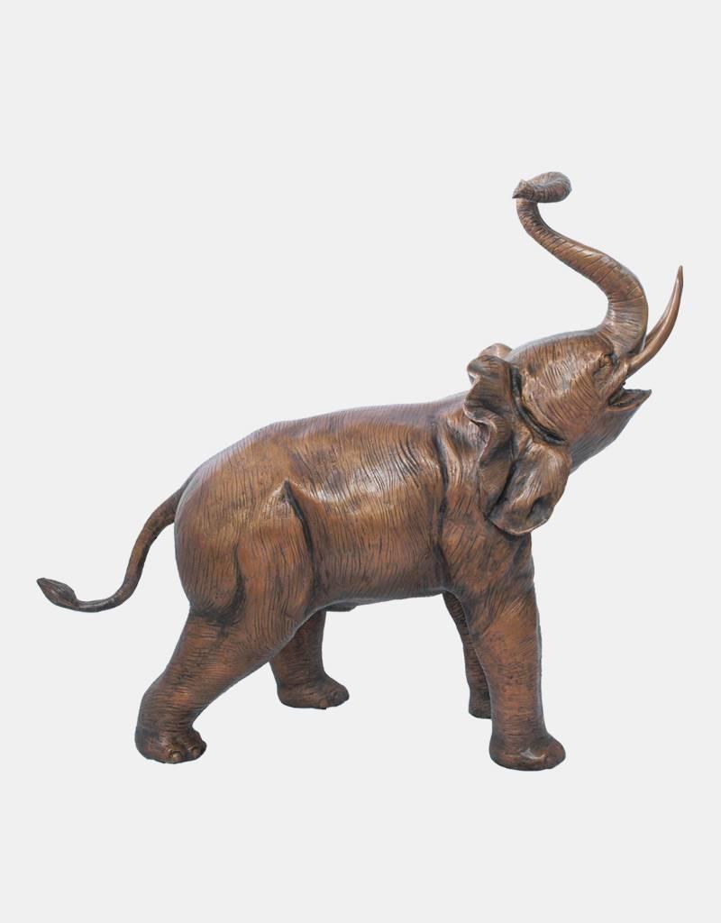Baba – Elefant mittelgroße Bronzefigur