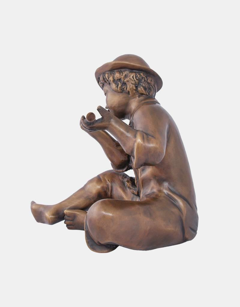 Moritz – Flötenspieler Bronzefigur Wasserspeier