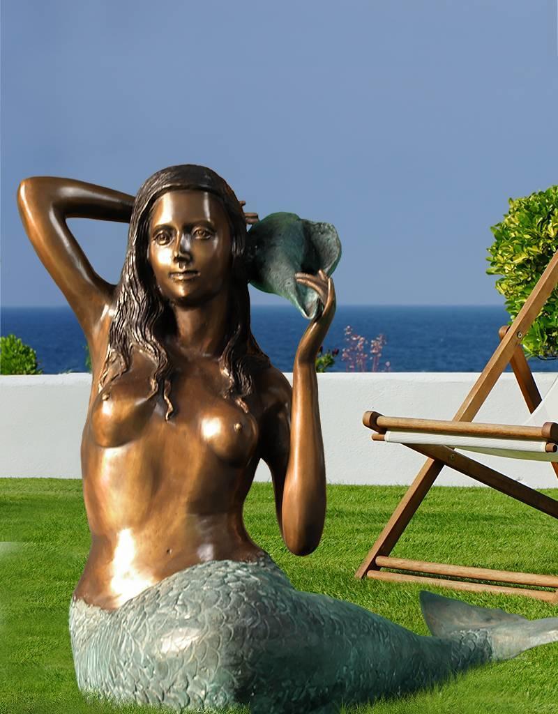 Grande Sirene - Sitzende Meerjungfrau Wasserspeier