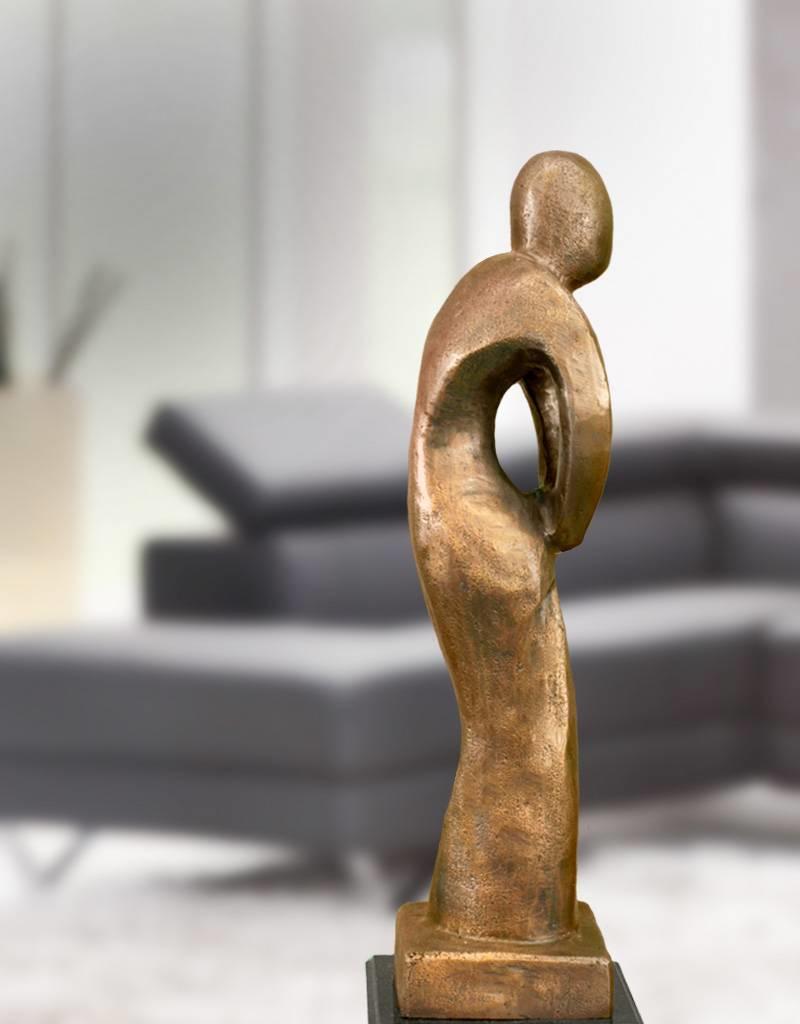 Afiri - Abstrakte Bronzefigur auf Marmorsockel