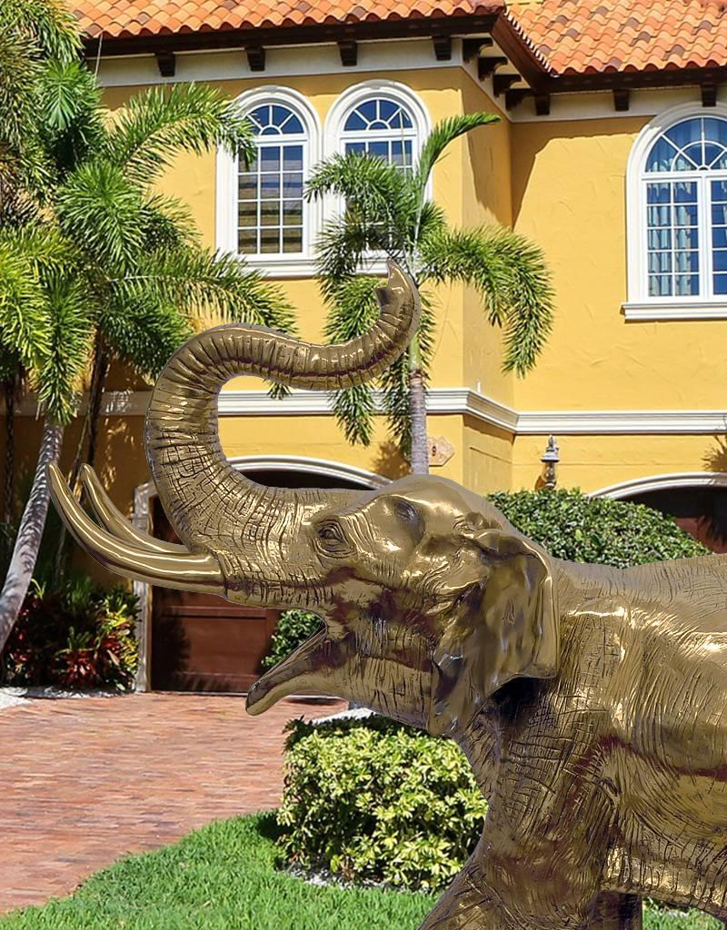 Gold Makarie – Skulptur eines jungen Elefanten