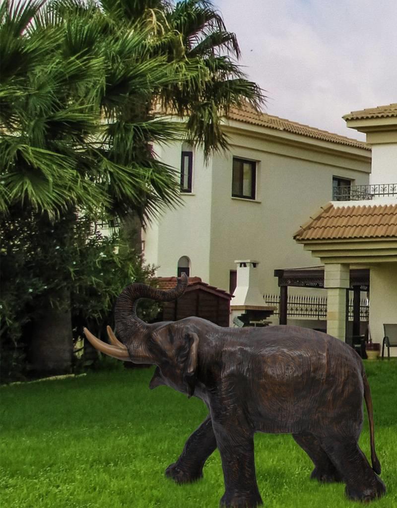 Bronze Makarie – Skulptur eines jungen Elefanten