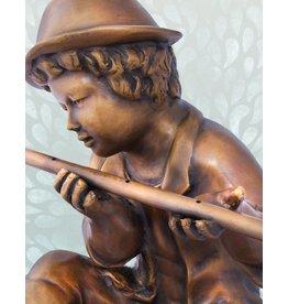 Moritz – Flötenspieler Bronzefigur