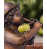 Max – Flötenspieler Bronzefigur Wasserspeier