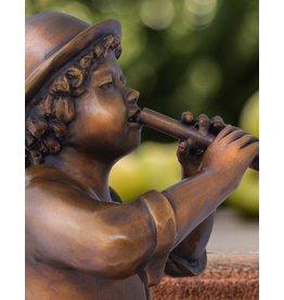 Max – Flötenspieler Bronzefigur