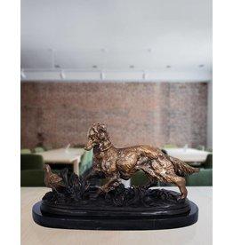Hunter – Bronzefigur eines Jagdhundes