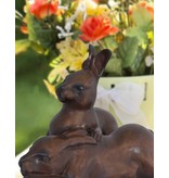 Die Gefährten – Bronzefigur zweier Hasen