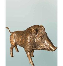Grand Sus – Bronzeskulptur eines Wildschweins