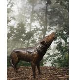 Lykaon – Bronzeskulptur eines Wolfs