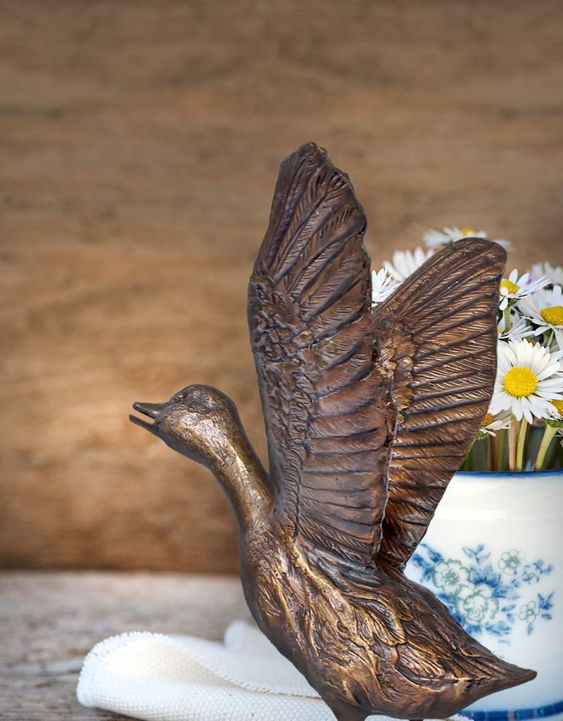 Anatra – Bronzeskulptur einer Flugente