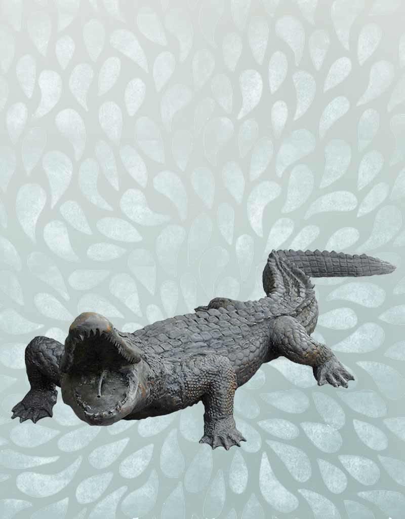 Grand Sobek – Lebensgroßer Alligator Wasserspeier
