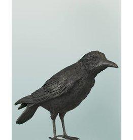 Cuervo – Bronzeskulptur eines Raben