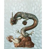 Da Lóng – Bronzeskulptur eines Drachen Wasserspeier