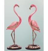 Phoenix Rosé – Flamingo Paar Skulptur