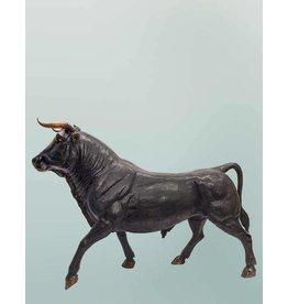 Taurus Moyen – Stier Skulptur aus Bronze