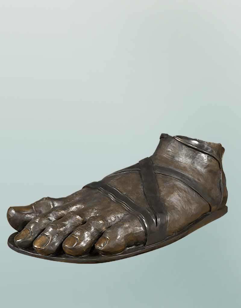 Hermes – Große Fußskulptur des Götterboten