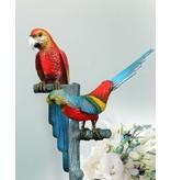 Laetus Duett – Bunter Papageienbaum Skulptur