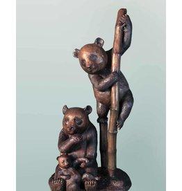 Sanfubao – Große Bronze dreier Pandabären